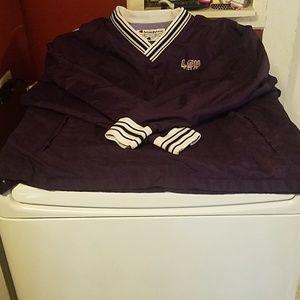 Mens Vintage champion lsu tiger jacket shirt sz XL